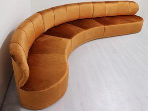 Cobra, Modulares Sofa, mit anpassbaren Oberflächen