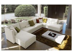 Company corner, Modulares Sofa, komplett abnehmbare Abdeckung, modernes Design