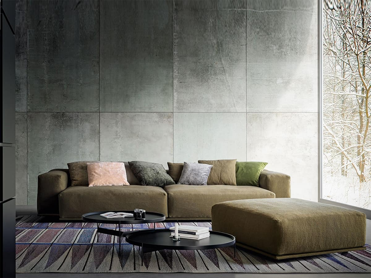 moderne sofa mit zwei stufen zur ck f r wohnr ume idfdesign. Black Bedroom Furniture Sets. Home Design Ideas