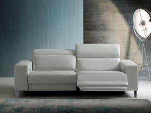 Dexter, Sofa mit Funktion, Lederpolsterung entspannen