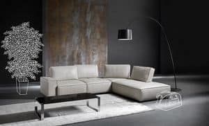 Diapason, Modernes Sofa mit abnehmbarem Deckel, mit Polsterung aus Polyurethan