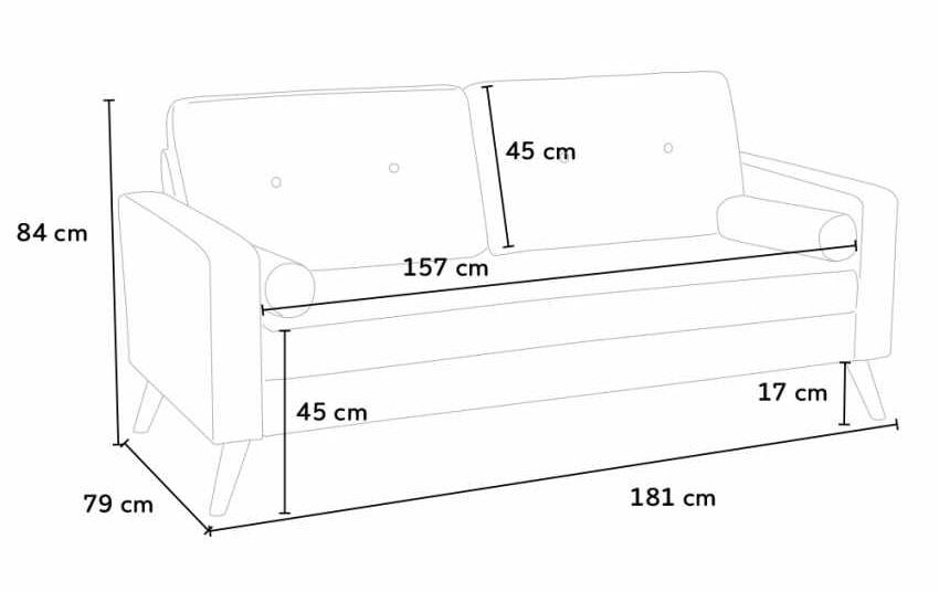 Skandinavisches Sofa mit großem Sitz | IDFdesign