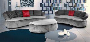 Espace Velvet, Velvet Sofa mit abgerundeten Linien