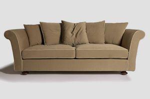 Ester, Maßgefertigtes Sofa mit Füßen aus Buchenholz