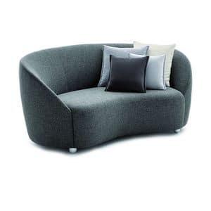 Euforia system 00160, Gepolsterte Sofa mit einem Soft-Design