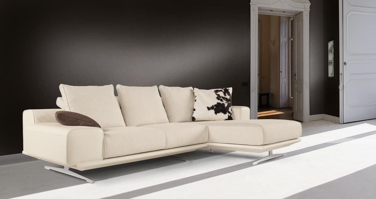 sofa mit halbinsel modernes design idfdesign. Black Bedroom Furniture Sets. Home Design Ideas