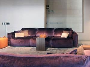 Gemma Sofa, Sofa bedeckt mit abnehmbarem Stoff oder Leder
