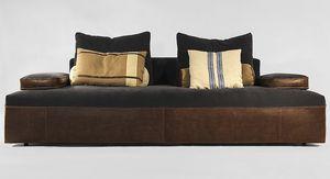Globe, Modernes Sofa auf Projekt, in Leder oder Stoff