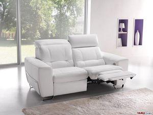 Gold relax, Elektrisches Entspannungssofa mit zwei Motoren für Kopf und Füße