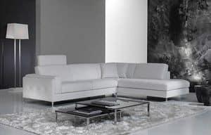 Hilton, Elegantes Sofa für Wohnzimmer, mit abnehmbarer Kopfstütze