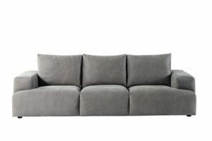 Indigo Sofa, Sofa mit Nackenrollen Kissen