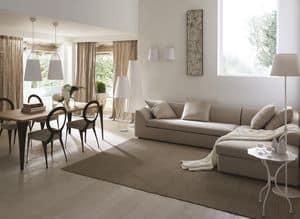 Instanbul divano, Ecksofa mit Holzrahmen, moderner Stil