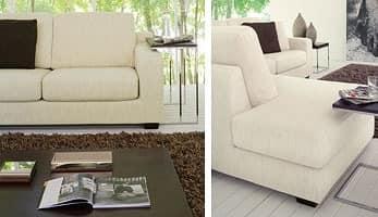 Ischia, Moderne Sofa in einem einfachen Stil, mit Polyurethan gepolstert