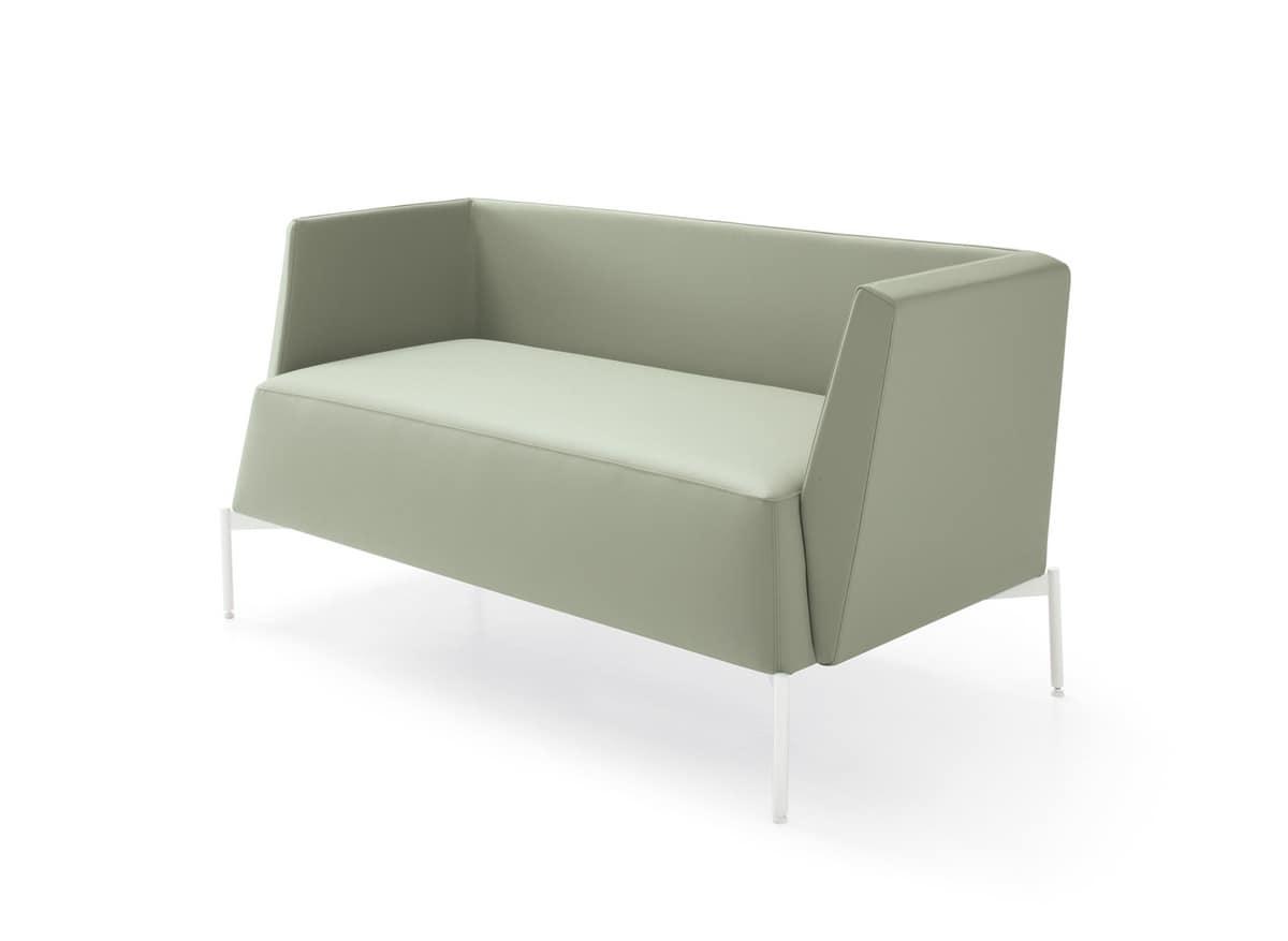 sofa f r wartezimmer bedeckt mit ma geschneiderten stoffen idfdesign. Black Bedroom Furniture Sets. Home Design Ideas