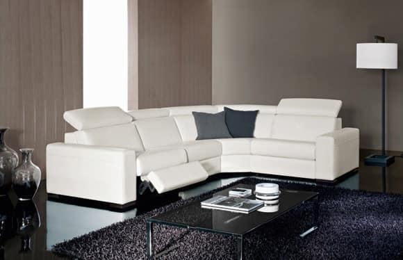 elegante sofa einstellbar mit relax funktion idfdesign. Black Bedroom Furniture Sets. Home Design Ideas