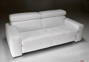 Kyoto, Modernes lineares Sofa mit gesteppten Kissen