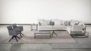 Lewis, Sofa mit bequemen und weichen dekorativen Kissen