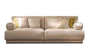 Ludo, Sofa mit zylindrischen Armlehnen