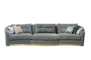 Madame, Sofa mit Sitzkissen in Memory-Schaum