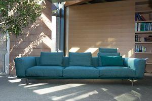 Milano, Modulares Sofa mit komplett abnehmbarem Polster