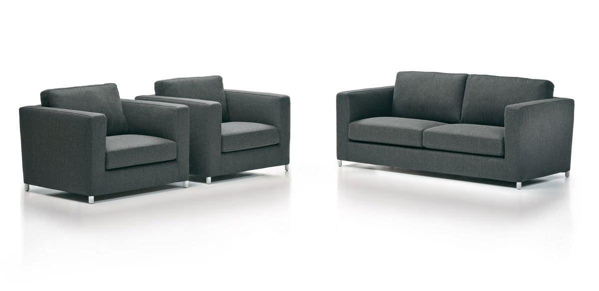 Moderne Sofa In Leder Und Stoff Fur Die Wohnraume Und Buros