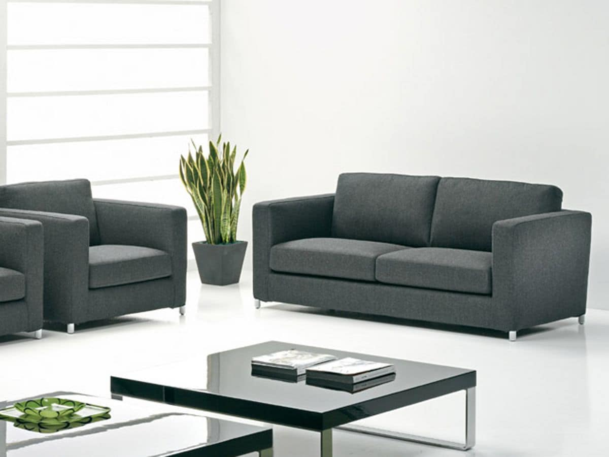 moderne sofa in leder und stoff f r die wohnr ume und b ros idfdesign. Black Bedroom Furniture Sets. Home Design Ideas