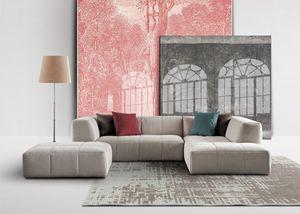 Morbidone, Sofa linear in Polyurethan, abnehmbaren Deckel