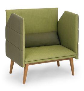 Oasis, Zweisitzer-Sofa mit hohen Seiten, um die Privatsphäre zu erhöhen