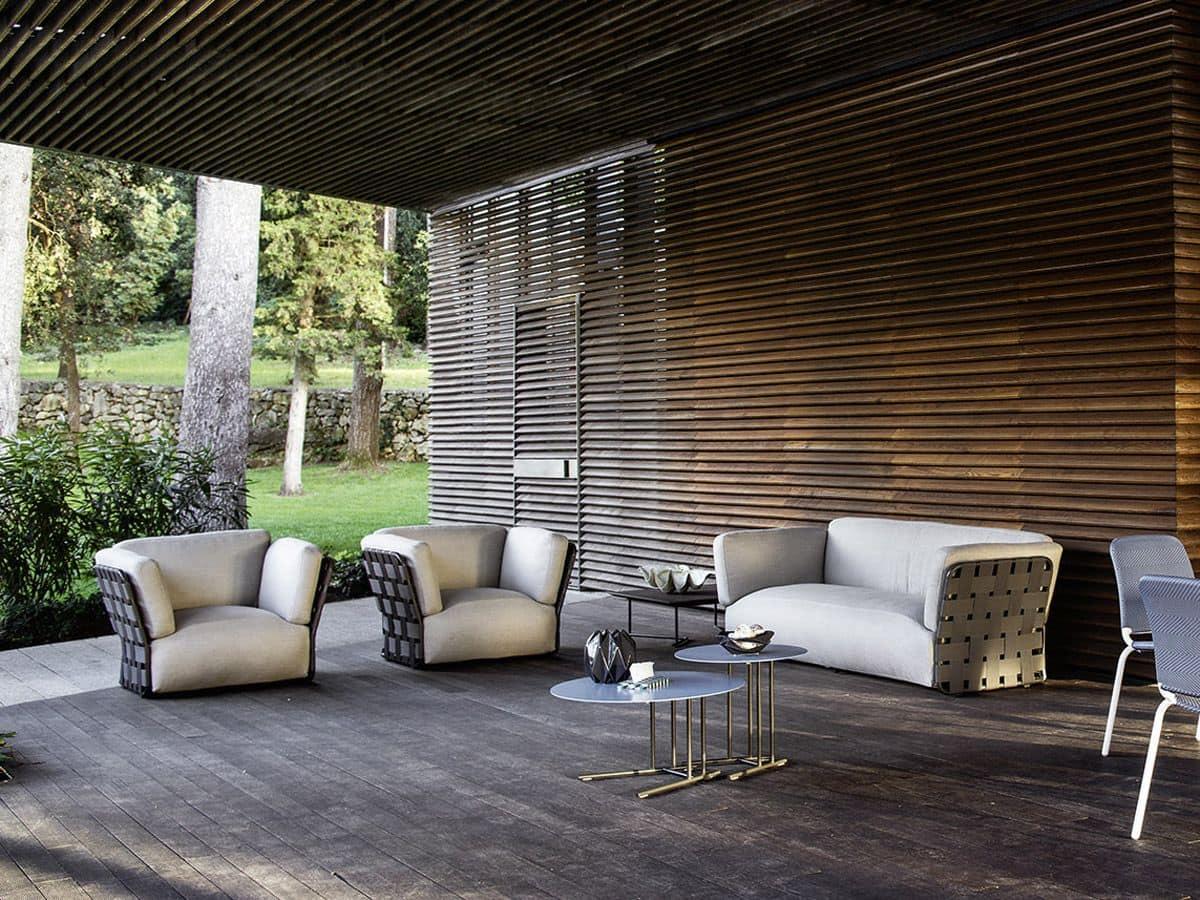Moderne sofa mit handgefertigten weben für die geschäftliche