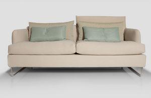 Orlando, Sofa mit Stahlrahmen