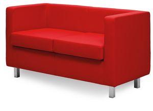 Paris 2P 3P, Sofa mit einem linearen Design, für nüchterne Hallen