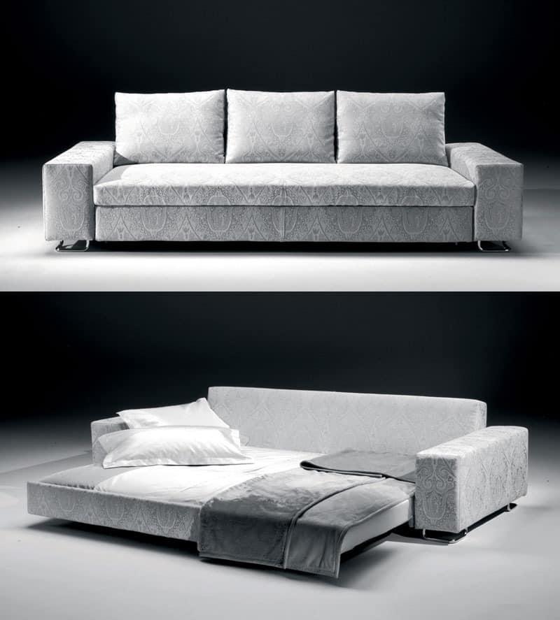 sofa bett in holz und polyurethan f r bergh tten idfdesign. Black Bedroom Furniture Sets. Home Design Ideas
