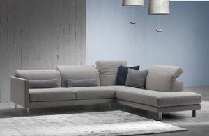 Prado, Sofa mit manuellem Mechanismus zum Einstellen der Rückenlehne