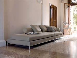 Seasons, Modular und kombinierbare Sofas, gepolstert mit Federn und Daunen