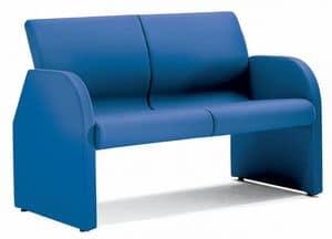 SEDOFF ONE 402, Vollständig gepolstertes Sofa mit Stahlrahmen