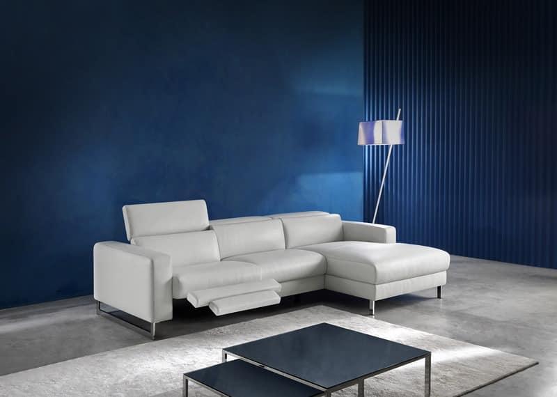 moderne sofa mit halbinsel gepolstert idfdesign. Black Bedroom Furniture Sets. Home Design Ideas