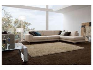 Square, Elegantes Sofa mit Holzrahmen, verschiedene Ausführungen