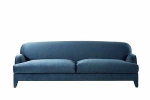 St. Germain Sofa, Stoff oder Leder gepolstertes Sofa