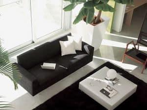 Step, Moderne Sofa, Leder umwickelt, für elegantes Wohnzimmer