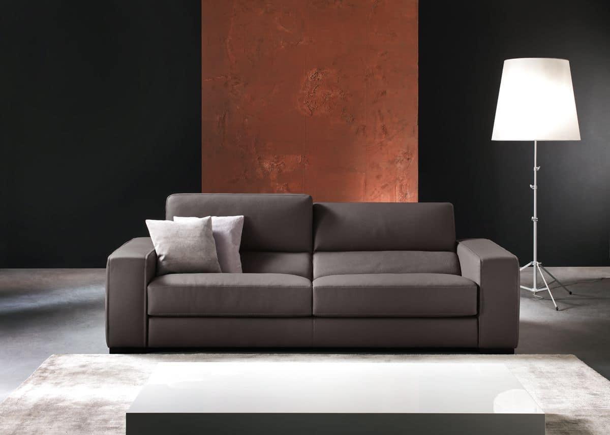 Ledersofa mit Relax -Mechanismus, für moderne Wohnräume  IDFdesign