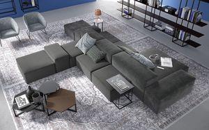 Tom, Modulares Sofa mit einem weichen Look