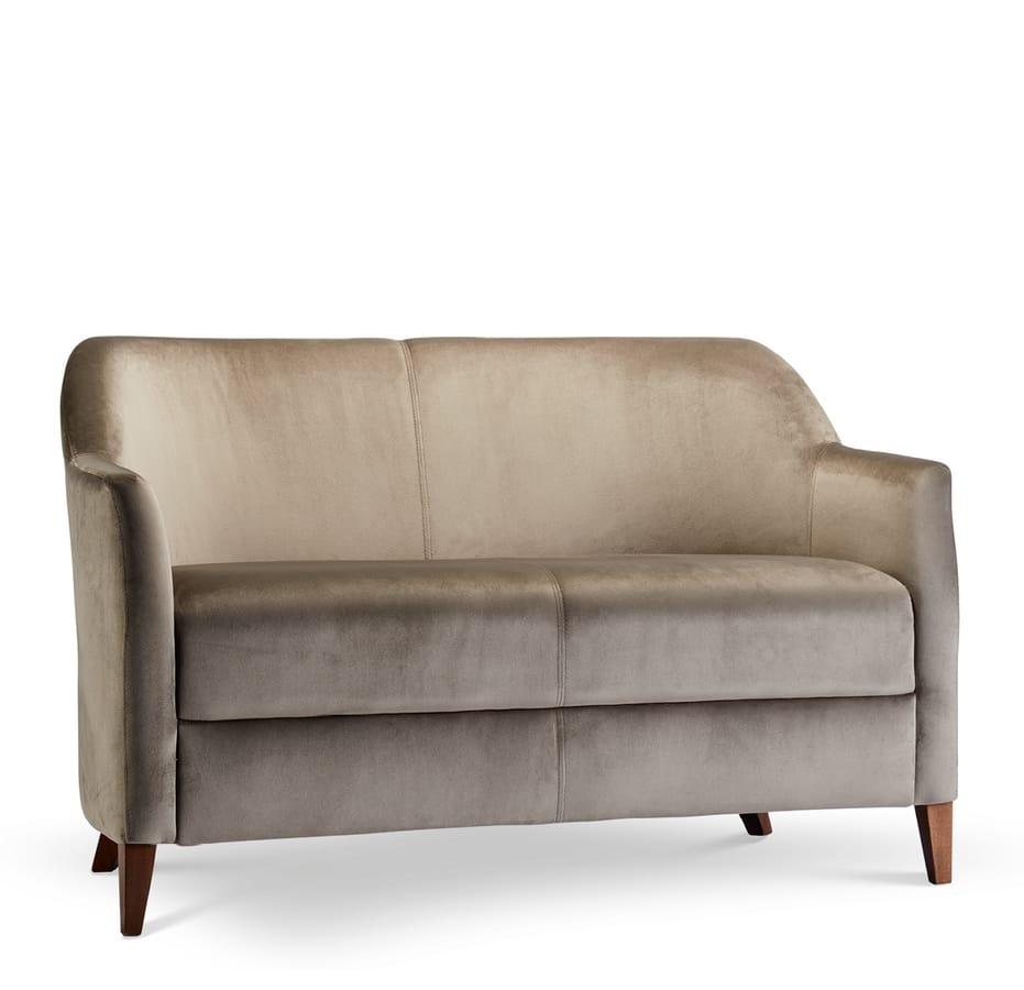VERONA LOUNGE 2, Zweisitzer-Sofa mit Holzrahmen