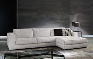 Vision, Sofa mit komplett abnehmbaren Stoff, für Wohnzimmer