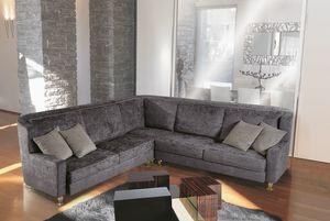 W02E + W02C, Modulares Sofa mit elegantem Stoff bezogen