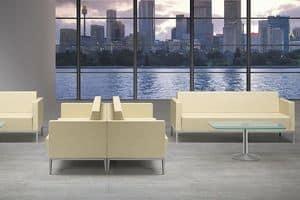 XILON 773, Moderne Sofa für Wartezimmerund entspannen