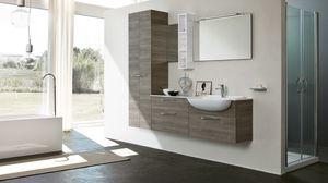 BLUES BL-01, Badezimmermöbel mit zwei Türen Spalte
