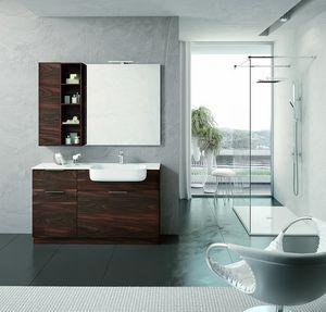 BLUES BL-07, Komplette moderne Badezimmermöbel