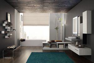 Byte 2.0 comp.01, Badezimmerschrank mit Graphitoberseite