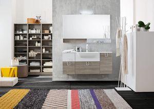 Byte 2.0 comp.02, Badezimmerschrank mit Spiegel mit Regalen