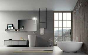 Dress 2.0 comp.01, Badezimmerzusammensetzung mit Spiegel und Regal